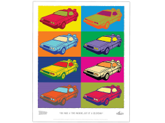 Back To the Future DeLorean Pop-Art Lithograph