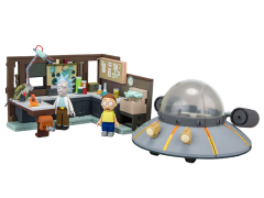 Rick and Morty Large Construction Set - Spaceship and Garage