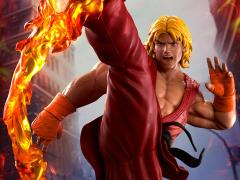 Street Fighter Ken Masters With Dragon Flame 1/4 Scale Ultra Statue