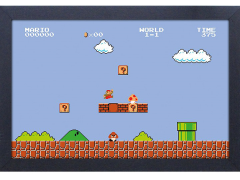 Super Mario Bros. Level 1-1 Framed Art Print