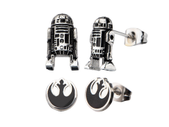 Star Wars R2-D2 & Rebel Alliance Symbol Stud Earring Set