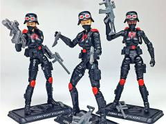 GI Joe Cobra Night Stalkers Female Troopers GI Joe Club 2018 Exclusive Three-Pack