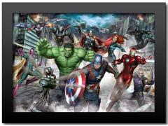 Marvel Avengers Landscape 3D Framed Artwork