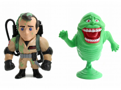 "Ghostbusters Metals Die Cast 4"" Peter Venkman & Slimer Figure Two Pack"