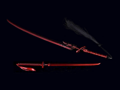 Japanese Samurai Short Blade & Katana (Devil Version) 1/6 Scale Accessory