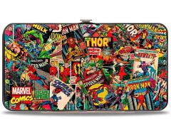 Marvel Retro Comic Books Hinged Wallet