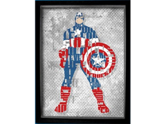 Marvel Captain America Printed Glass Art