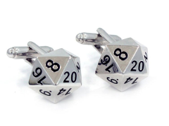 D20 (20-Sided Dice) Cufflinks