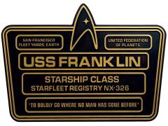 Star Trek Dedication Plaque #5 - USS Franklin NX-326