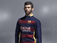 1/6 Scale FC Barcelona Soccer Figure 2015/16 Home Kit - Pique