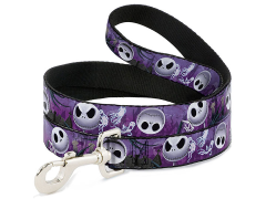 The Nightmare Before Christmas Jack Expressions (Ghosts in Cemetary) Dog Leash