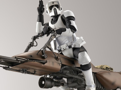 Star Wars 1/12 Scale Model Kit - Scout Trooper With Speeder Bike