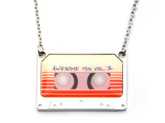 Guardians of The Galaxy Awesome Mix Vol. 2 Tape Pendant Necklace