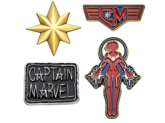 Captain Marvel Enamel Pin Set