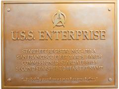 Star Trek Dedication Plaque #3 - U.S.S Enterprise NCC-1701-A