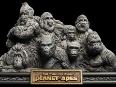 Planet of the Apes Apes Through the Ages Statue