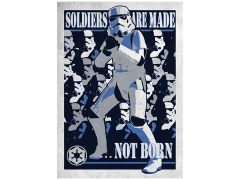Star Wars Galactic Propaganda Soldiers Are Made Displate Metal Print