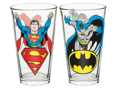 DC Comics Justice League Pint Glass Set of 2