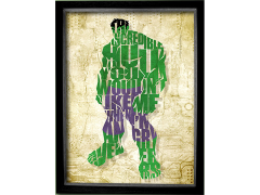 Marvel Hulk Printed Glass Art