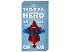"Marvel Spider-Man ""There's A Hero In All Of Us"" Inspirational Canvas Art"