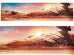 Star Wars Dogfight at Sunset Lithograph