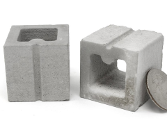 Mini Materials 1/6 Scale Mini Half Cinder Blocks (2 Pack)