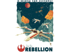 Star Wars X-Wings for Victory Art Print