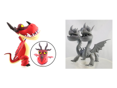 How To Train Your Dragon Action Vinyls: Series 02 Set of 3 - Dragons
