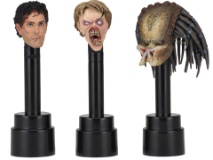 Action Figure Head Display Stand (Black) Three-Pack