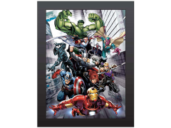 Marvel Avengers Portrait 3D Framed Artwork