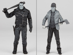 The Walking Dead Comic Negan & Glenn Two Pack (Black & White) Exclusive
