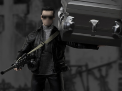 1/6 Scale Leather Jacket With Coffin Set