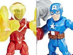 Marvel Super Hero Adventures Power Up Captain America and Marvel's Falcon Two-Pack