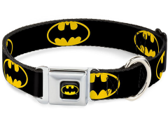 DC Comics Batman Shield SeatBelt Buckle Dog Collar