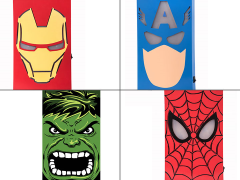Marvel Hero Face LED MDF Box Art Set of 4
