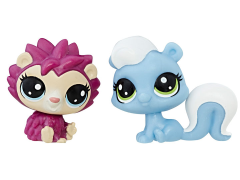 Littlest Pet Shop Mini 2-Pack Hildy Hedgehog & Alina Skunkerby