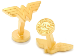DC Comics Matte Gold Wonder Woman Logo Cufflinks