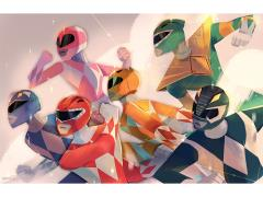 Mighty Morphin Power Rangers Charge Attack Lithograph