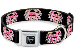 DC Comics Supergirl Logo (Hibiscus) SeatBelt Buckle Dog Collar