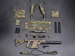 Elite Firearms Series 3 1/6 Scale Vector Submachine Gun Set (FDE & Camo)