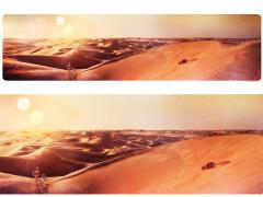 Star Wars Tatooine Sunset Lithograph