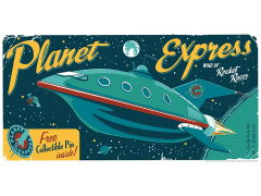Futurama Planet Express Rocket Racer Art Print