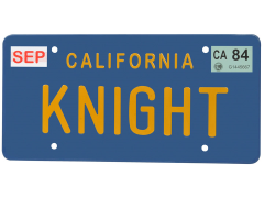 Knight Rider - Knight License Plate Replica