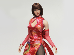 1/6 Scale Female Qi Pao Character Set - Anna (Red)