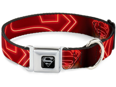 DC Comics Superman Logo (Neon) SeatBelt Buckle Dog Collar