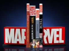 Marvel Logo Bookends