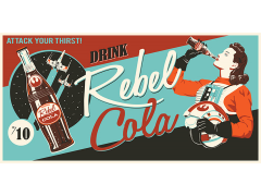 Star Wars Rebel Cola Canvas Wrapped Print