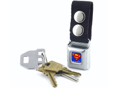 DC Comics Superman Logo SeatBelt Buckle Keychain
