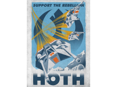 Star Wars Galactic Propaganda Hoth Displate Metal Print