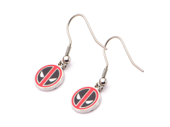 Marvel Deadpool Logo Hook Dangle Earrings